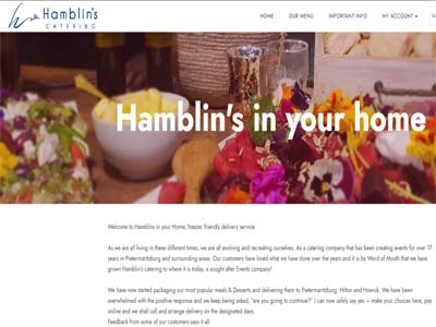 Hamblins in your Home - Freezer Friendly meals and Desserts - Website Design and built by Squirrel media